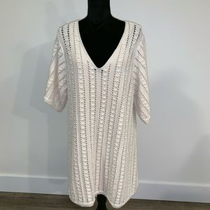 Zara size L crochet dress with snide skip dress